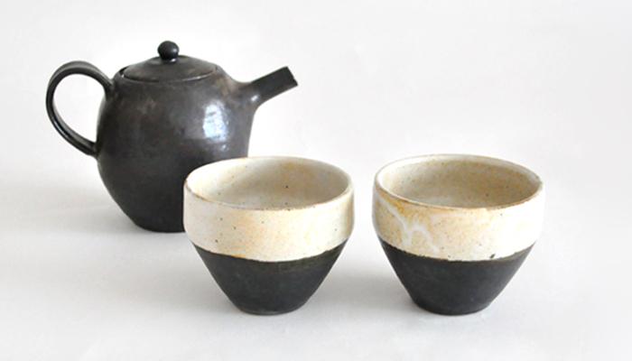 益子焼のティーポット&カップ | 中村 恵子